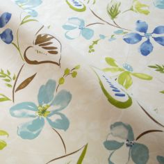 Aqua Summertime Made to Measure Curtain