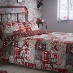 HO HO HO Christmas Reversible Duvet Cover Set