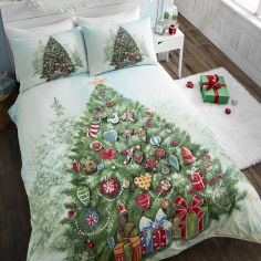 Green Christmas Tree Duvet Cover Set