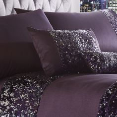 Dazzle Sequin Filled Boudoir Cushion - Purple