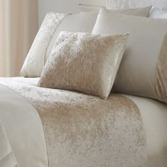 Boulevard Crushed Velvet Filled Boudoir Cushion - Cream