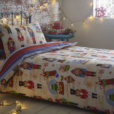 Nutcracker Christmas Reversible Duvet Cover Set
