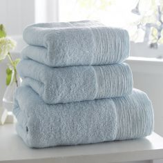 100% Cotton Diamante Supersoft Towel - Duck Egg Blue