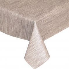 Textured Brown Plastic Tablecloth Wipe Clean Pvc Vinyl