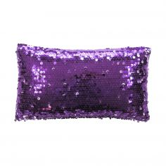 Dazzle Sequin Filled Petite Cushion - Purple
