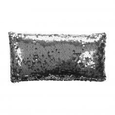 Dazzle Sequin Filled Petite Cushion - Charcoal Grey