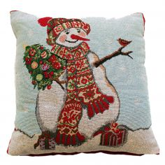 Happy Snowman Cushion Cover