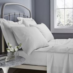 Catherine Lansfield 500 Thread Count Cotton Rich Flat Sheet White