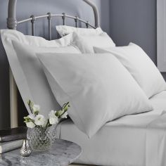 Catherine Lansfield 500 Thread Count Cotton Rich Oxford Pillowcase - White