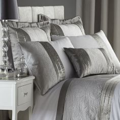 Pair of Luxury Gatsby Silver Pillowshams