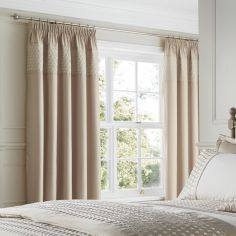 Lille Gold Tape Top Curtains