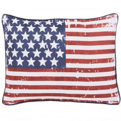Catherine Lansfield New York Stars And Stripes Navy Cushion