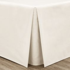 Catherine Lansfield Non Iron Percale Combed Polycotton Box Pleated Base Valance Sheet - Cream