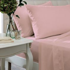 Catherine Lansfield Non Iron Percale Combed Polycotton Flat Sheet - Candy