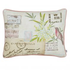 Cream Vintage Postcard Cushion