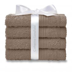 Catherine Lansfield 100% Cotton Towel - Biscuit