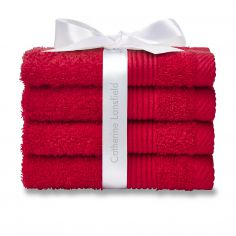 Catherine Lansfield 100% Cotton Towel - Cherry
