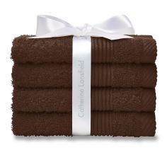 Catherine Lansfield 100% Cotton Towel - Chocolate
