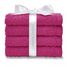 Catherine Lansfield 100% Cotton Towel - Hot Pink