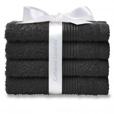Catherine Lansfield 100% Cotton Towel - Black