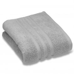 Catherine Lansfield Zero Twist 100% Cotton Towel - Silver Grey