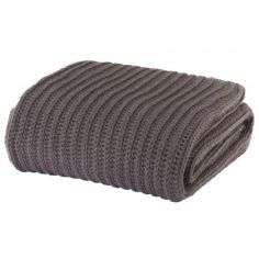 Catherine Lansfield Chunky Knit Throw - Charcoal