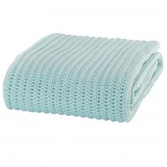 Catherine Lansfield Chunky Knit Throw - Duck Egg Blue