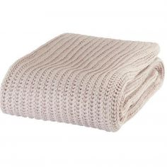 Catherine Lansfield Chunky Knit Throw - Natural