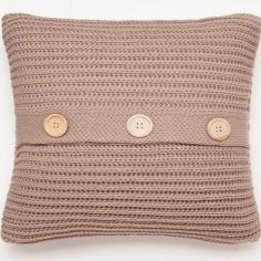 Catherine Lansfield Chunky Knit Cushion Cover - Natural
