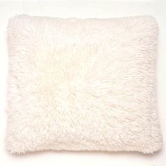 Catherine Lansfield Cuddly Fluffy Cushion Cover - Cream