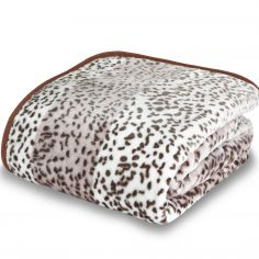 Catherine Lansfield Giraffe Animal Print Raschel Mink Throw - Brown