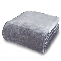 Catherine Lansfield Plain Raschel Throw - Grey