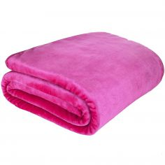 Catherine Lansfield Plain Raschel Throw - Hot Pink