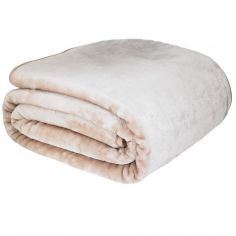 Catherine Lansfield Plain Raschel Throw - Latte