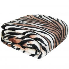 Catherine Lansfield Raschel Tiger Print Throw