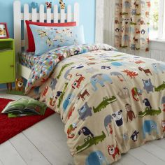 Catherine Lansfield Animal Kingdom Kids Duvet Cover Set