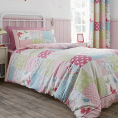 Canterbury Patchwork Pink Kids Duvet Cover Set