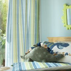 Catherine Lansfield Dinosaurs Kids Tape Top Curtains