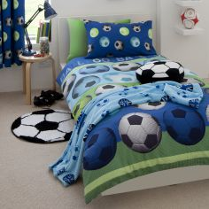 Football Kids Duvet Cover Set - Blue