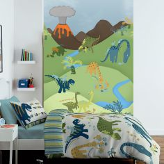 Catherine Lansfield Dinosaurs Kids Bedroom Wall Art