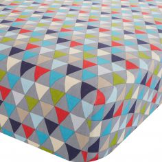 Catherine Lansfield Geo Colourful Cotton Rich Fitted Sheet