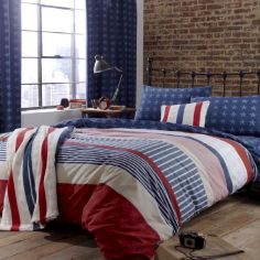 Red, White & Blue Stars and Stripes Duvet Cover Set