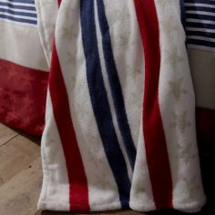 Catherine Lansfield Red, White & Blue Stars and Stripes Throw