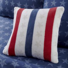 Catherine Lansfield Red, White & Blue Stars and Stripes Filled Cushion