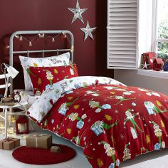 Flannelette Brushed Cotton Christmas Elfie Bed in a Bag
