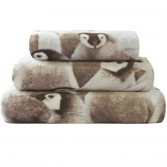 Penguin Colony Cotton Velour Towel