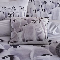 Catherine Lansfield Penguin Colony Cushion Cover
