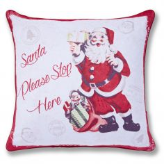 Retro Santa Cushion Cover