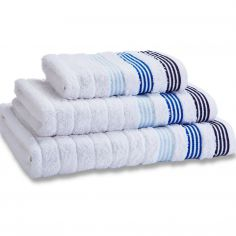Garrat Stripe 100% Cotton Towel - White