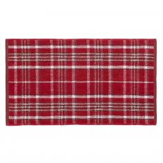 Heritage Check Cotton Towel - Red
